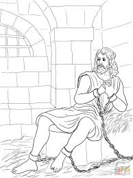john the baptist in prison coloring page free printable coloring