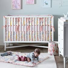 White Convertable Crib by Dwellstudio Mid Century Crib In French White