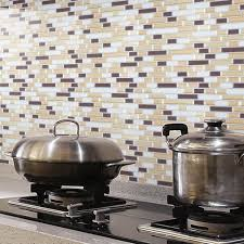 Peel And Stick Wall Tile Kitchen And Bathroom Backsplashes  Pcs - Peel on backsplash
