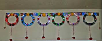 recycled toran door hanging bandanwar diy indian toran youtube