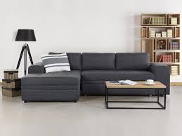 Sleeper Sofa Chaise Lounge by Corner Sofa Upholstered Sleeper Sofa Storage Dark Grey Alden
