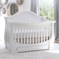 White Convertable Crib by Eco Chic Baby Dorchester Curved 4 In 1 Convertible Crib With