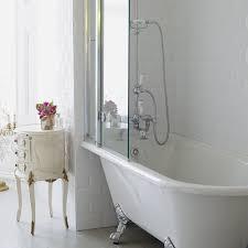 bath burlington hampton shower bath 150 x 75cm lh freestanding