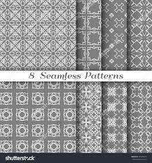 Texture Design Set 8 Different Seamless Line Patterns Stock Vector 425376415
