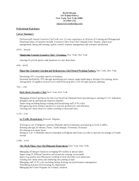 Oilfield Resume Objective Examples by Chefs Resume Resume Cv Cover Letter