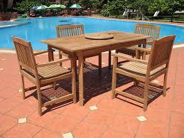 Wood Patio Furniture Sets - amazon com 7pc teak wood patio dining set patio lawn u0026 garden
