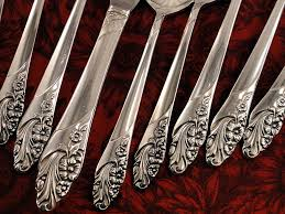 oneida community evening star vintage 1950 silver plate flatware