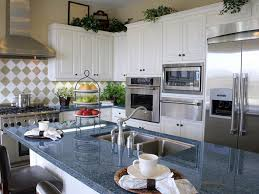 Kitchen Cabinets And Islands by Blue Granite Countertops White Cabinets Blue Pearl Granite