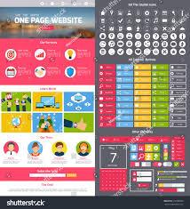 flat website design template menu icons stock vector 216380680