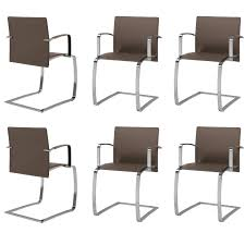 set of six italian dining room chairs modern design new made in
