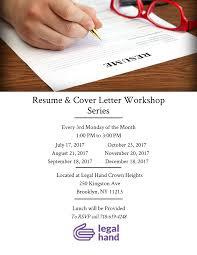 Cover Letter For Resume Resume And Cover Letter Workshop U2014 Legal Hand