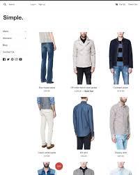 clothing u0026 fashion ecommerce website templates free and premium