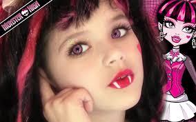 Halloween Barbie Makeup by Draculaura Monster High Doll Costume Makeup Tutorial For Halloween