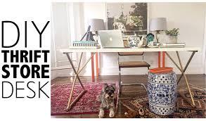 diy thrift store desk home decor youtube