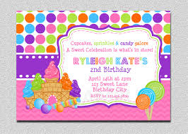 Invitation Card Store Candyland Birthday Invitation Sweet Shoppe By Thetrendybutterfly
