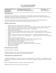 warehouse worker resume objective unthinkable building resume 7 building resumes manager
