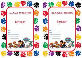 Birthday Invitation Cards Models Paw Patrol Birthday Invitations Redwolfblog Com