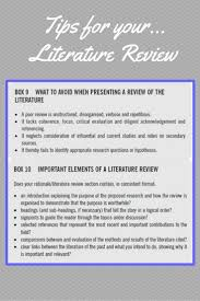 How to write a literature review for a research proposal