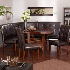 Round Dining Table Sets For 6 Breakfast Nook Table And Chairs Layton Espresso 6 Piece Breakfast