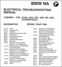 1996 bmw 318is 320i 325i 328i u0026 c m3 electrical troubleshooting manual