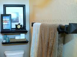 easy diy towel rack tutorial a mom s take diy bathroom towel rod tutorial
