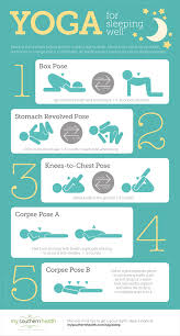 Colors That Help You Sleep by 5 Yoga Poses For A Full Restful Sleep With Infographic