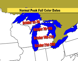 Time Change Map Michigan U0027s Average Fall Color Dates And How Is This Year Looking
