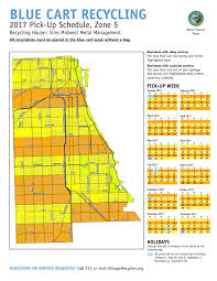 Chicago Suburbs Map City Of Chicago Blue Cart Schedule And Maps