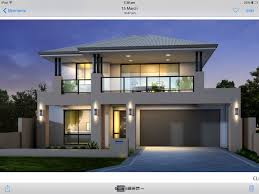 Two Story House Floor Plans Two Storey House Facade Grey And Black Balcony Over Garage