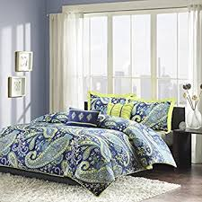 Bed Comforter Sets For Teenage Girls by Amazon Com Modern Teen Girls Comforter Bedding Set With Blue And