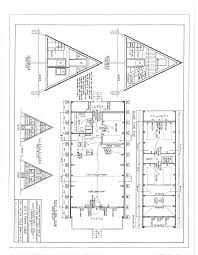 Free Floor Plans For Houses by Free A Frame Cabin Plans Blueprints Construction Documents Sds