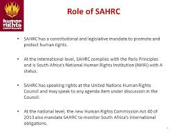 South African Human Rights Commission South Africa     s International