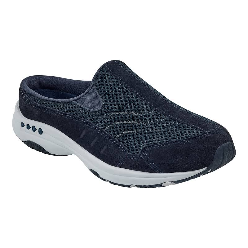 Easy Spirit Traveltime Flats Black- Womens