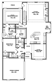 four bedroom one story house plans