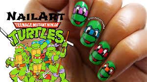 teenage mutant ninja turtles nail art tutorial simple u0026 easy
