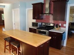contemporary butcher block kitchen island design kitchen
