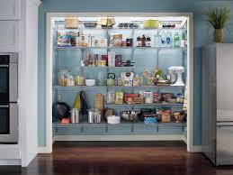 elegant floating black painted wooden l shaped pantry shelving