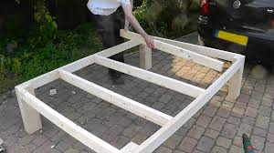 How To Build A Full Size Platform Bed With Drawers by Heavy Duty Diy Bed Youtube