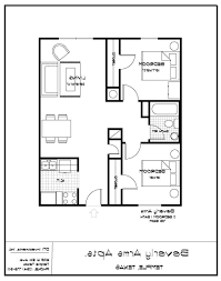 Single Bedroom Apartment Floor Plans by Home Design One Bedroom Apartment Designs Example 2 Floor Plan
