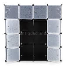 ikayaa 16 cubes diy clothes shoes storage organizer closet