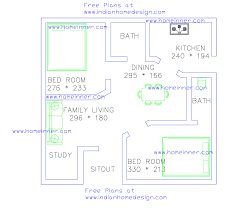 free low cost 2 bedroom 470 sq ft house plan 2 cent land penting