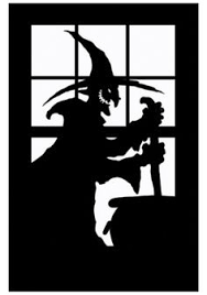 fall silhouettes haunted house silhouette holiday crafts