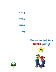 free halloween invite templates mario party invitations u2013 gangcraft net