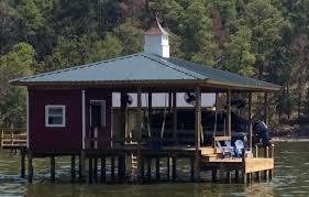 House On Pilings by Lake Livingston Bulkheads And Boathouses Lake Livingston