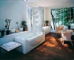 exquisite modern bathroom design with jacuzzi shower combination dazzling bathroom decoration featuring jacuzzi shower combination using glass shower screen