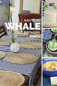 Nautical Home Accessories First Birthday U2013 Nautical Whale Party