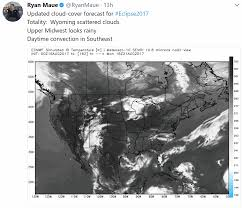 World Cloud Cover Map by Wednesday Soaker Eclipse Weather Preview Minnesota Trending