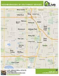 Southwest Colorado Map by Denver Neighborhood Map L Find Your Way Around Denver L