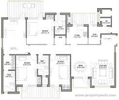 Servant Quarters Floor Plans 3 Bedroom Apartment Flat For Sale In Bestech Park View Spa Next