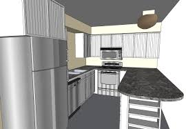 how to design a kitchen using sketchup dimensions for l shaped
